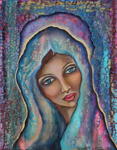 Cosmic Magdalene of the Crystalline Cave by Elizabeth Gibbons
